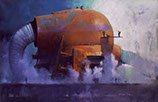 'Cleaning the Ducts' by the artist John Harris, from 'The Rite of the Hidden Sun'.