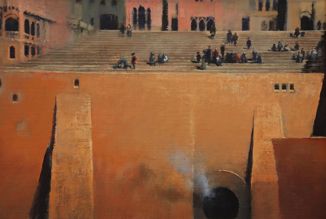'On the Terrace' by the artist John Harris, from 'The Rite of the Hidden Sun'.